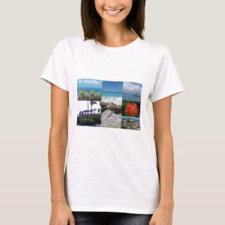 St. MaartenSintマーティンの写真撮影のコラージュ Tシャツ