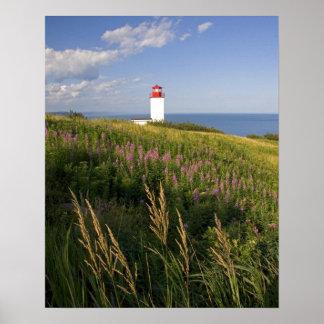 St Martins、ニューブランズウィック、2の灯台 ポスター