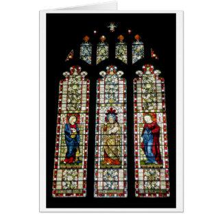 St Maryのステンドグラス カード