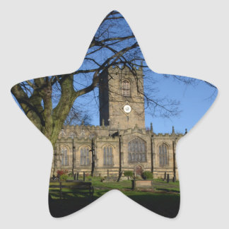 St Maryの教会Ecclesfield. 星シール
