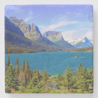 st. Mary湖、グレーシャー国立公園、モンタナ ストーンコースター