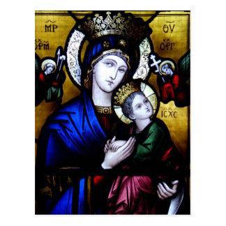 St Mary、ゴールウェイの小修道院のステンドグラス ポストカード