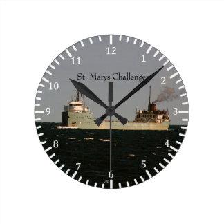 St. Marysの挑戦者の時計 ラウンド壁時計