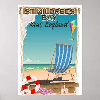 St Mildreds湾のケントイギリス旅行ポスター ポスター