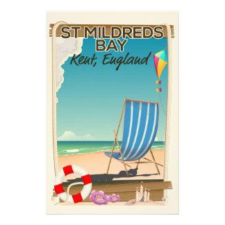 St Mildreds湾のケントイギリス旅行ポスター 便箋