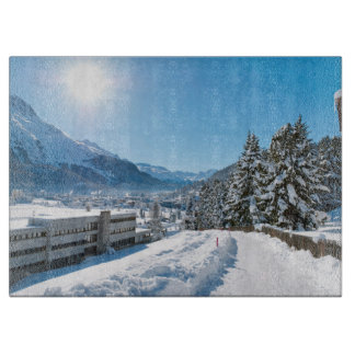 St Moritzの冬 カッティングボード