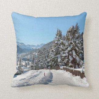 St Moritzの冬 クッション
