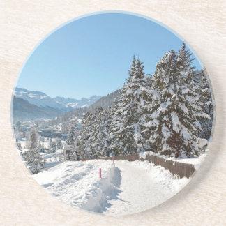 St Moritzの冬 コースター