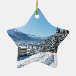 St Moritzの冬 セラミックオーナメント