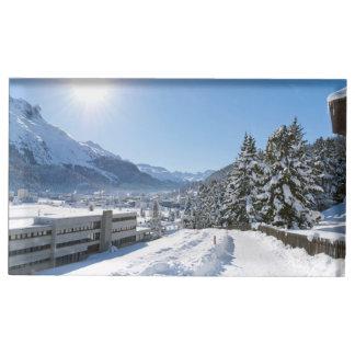 St Moritzの冬 テーブルカードホルダー