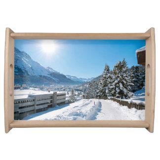 St Moritzの冬 トレー