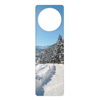 St Moritzの冬 ドアノブプレート