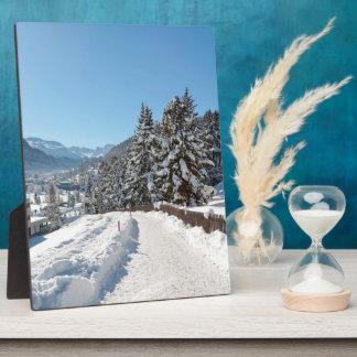 St Moritzの冬 フォトプラーク