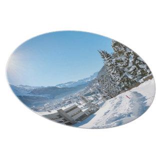 St Moritzの冬 プレート