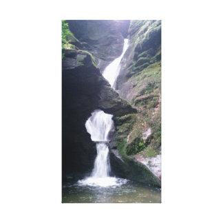 St Nectanの谷間コーンウォールの滝 キャンバスプリント