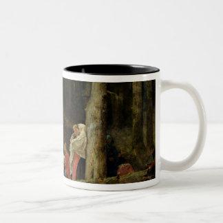 St. Odileの大修道院からの巡礼者 ツートーンマグカップ