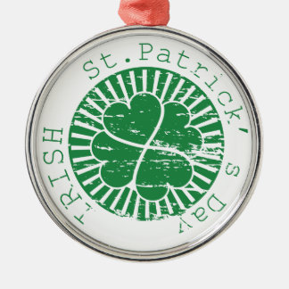 St. Patricks日のグランジなスタンプ メタルオーナメント