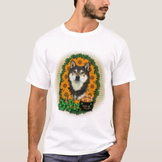 St patricks -金の柴犬のポット- Yasha Tシャツ