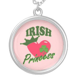 St patricks dayのアイルランド人のプリンセス シルバープレートネックレス