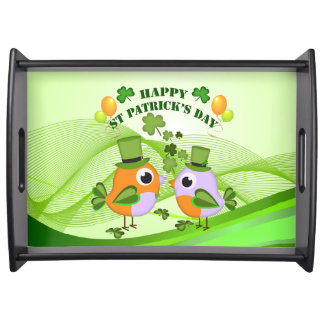 St patricks dayの幸せな鳥 トレー
