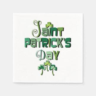 St patricks dayの緑のタイポグラフィ スタンダードカクテルナプキン