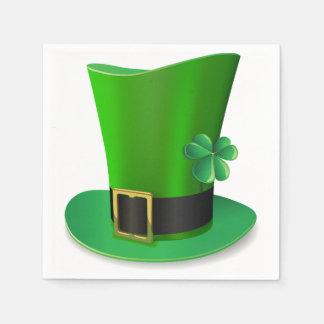 St patricks dayの高い帽子の紙ナプキン スタンダードカクテルナプキン
