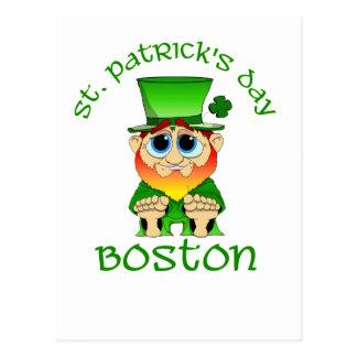 St patricks dayの~のLilのBlarneyボストン ポストカード