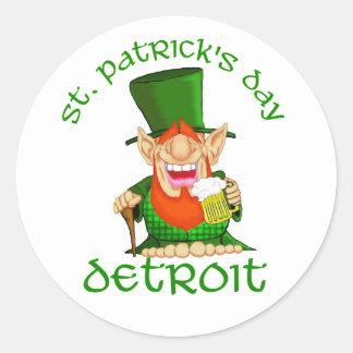 St patricks dayの~デトロイト ラウンドシール