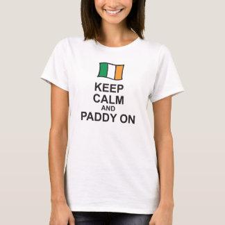 St patricks dayのTシャツはflaの平静そして水田を保ちます Tシャツ