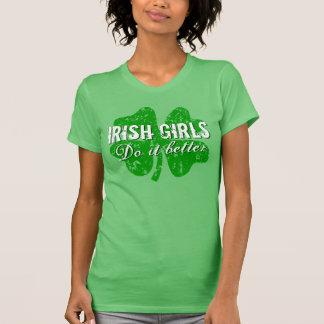 St patricks dayのTシャツ|のアイルランド人の女の子それはよくします Tシャツ