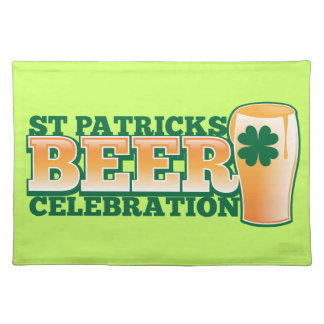 St patricks dayビールお祝い ランチョンマット