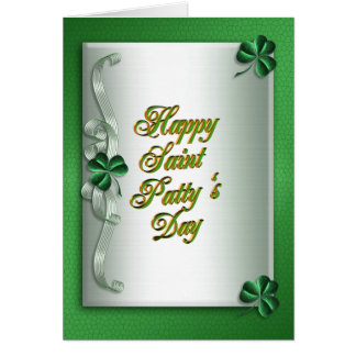 St pattys dayのアイルランドの天恵の挨拶状 カード