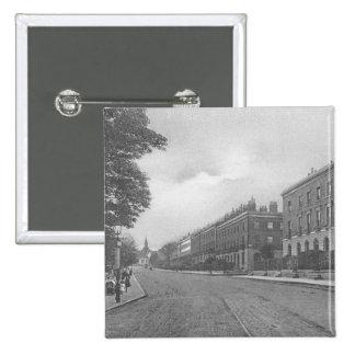 St. Paulsの道、Canonbury、Islington、c.1905 5.1cm 正方形バッジ
