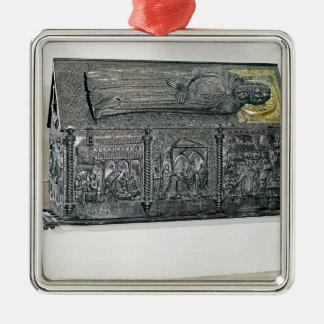 St. Simeonの残物を含んでいる小箱 メタルオーナメント