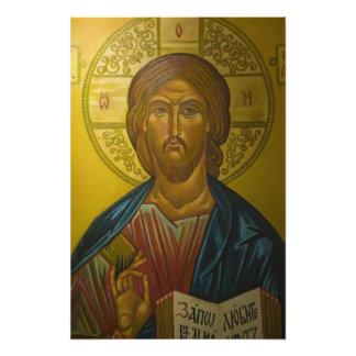 St. Sophiaの教会の中のロシアのなアイコン/ フォトプリント