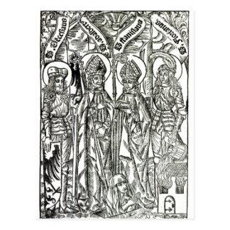 St. Wenceslaus、Adalbert、Stanislaus St. Florian ポストカード
