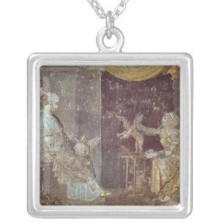 Stabiaeからのキューピッドを、販売している女性 シルバープレートネックレス