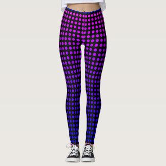 Staceyリン著紫色の水玉模様 レギンス