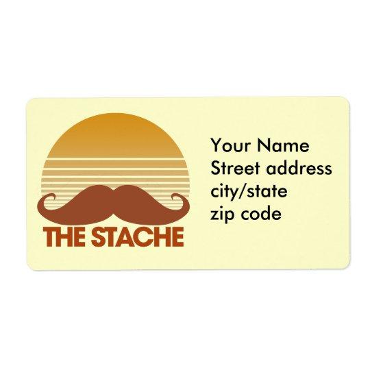 Stacheのレトロのデザイン 発送ラベル