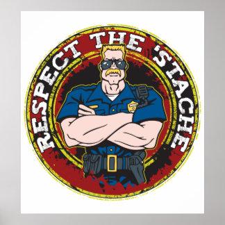 「Stacheの警官を尊重して下さい ポスター