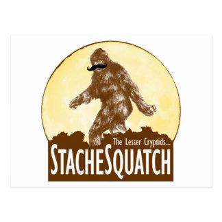 「STACHE SQUATCH少しCryptid -おもしろいなビッグフット ポストカード