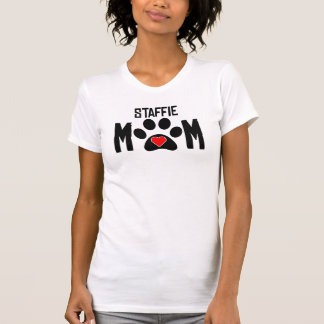 Staffieのお母さん Tシャツ