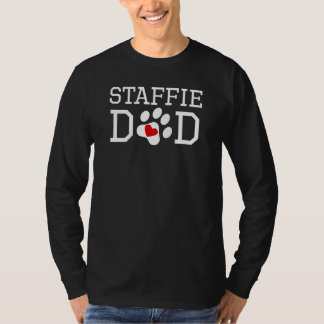 Staffieのパパ Tシャツ