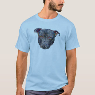 Staffieヘッド色のTシャツ Tシャツ