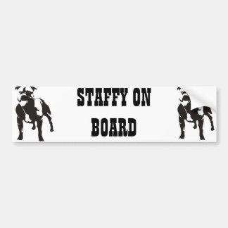 Staffy船上に バンパーステッカー