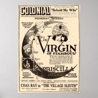 Stamboulのヴィンテージポスターのヴァージン ポスター