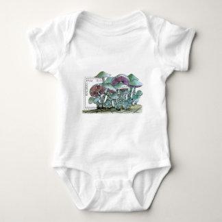 Stamp T-shirt Maldives_mushroom ベビーボディスーツ