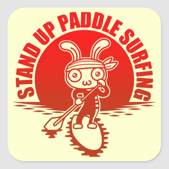Stand up paddle surfing 正方形シール・ステッカー