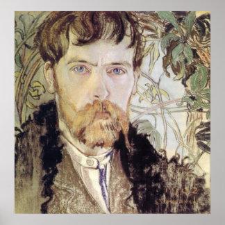 Stanislaw Wyspianskiの自画像1902年 ポスター