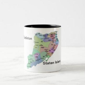 Stapletonのスタテン島の~ 2はマグにある調子を与えます ツートーンマグカップ